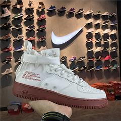 耐克NIKE真标公司级NikeSpecialForcesAirForce1空军一号中帮NikeSFAF1MidIvory货号9177531004046