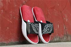 乔丹AirJordan真标乔丹7代系列拖鞋乔丹拖鞋AJ拖鞋AirJordanHydro7货号AA2517001乔7拖鞋黑白红3647