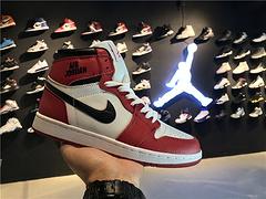 乔丹AirJordanaj1AJ1乔丹1代乔1AJ1男鞋篮球鞋乔丹1代高帮系列AirJordan12017款消失的飞翼乔1白红货号5550881014047