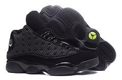 AJ13乔13乔丹13代新配色黑色网布黑猫真眼正标超级A男鞋4047