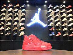 乔丹AirJordan童鞋aj4AJ4乔丹4代乔4乔丹4篮球鞋童鞋大童AirJordan4乔4红漆皮2835