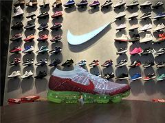 耐克NIKE真标虎扑版NikeAirVaporMax2018飞线编织网面全掌气垫跑步鞋系列减震跑步男女鞋耐克2018白红3645