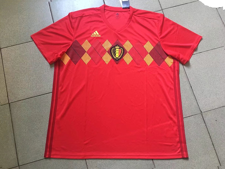 2018 World Cup Belgium Home Red Color No.7 De Bruyne Soccer Jersey ... ca080f407