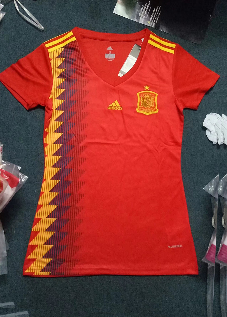 sale retailer b37a8 280fa 2018 World Cup Spain Home Red Color Women Soccer Jersey ...
