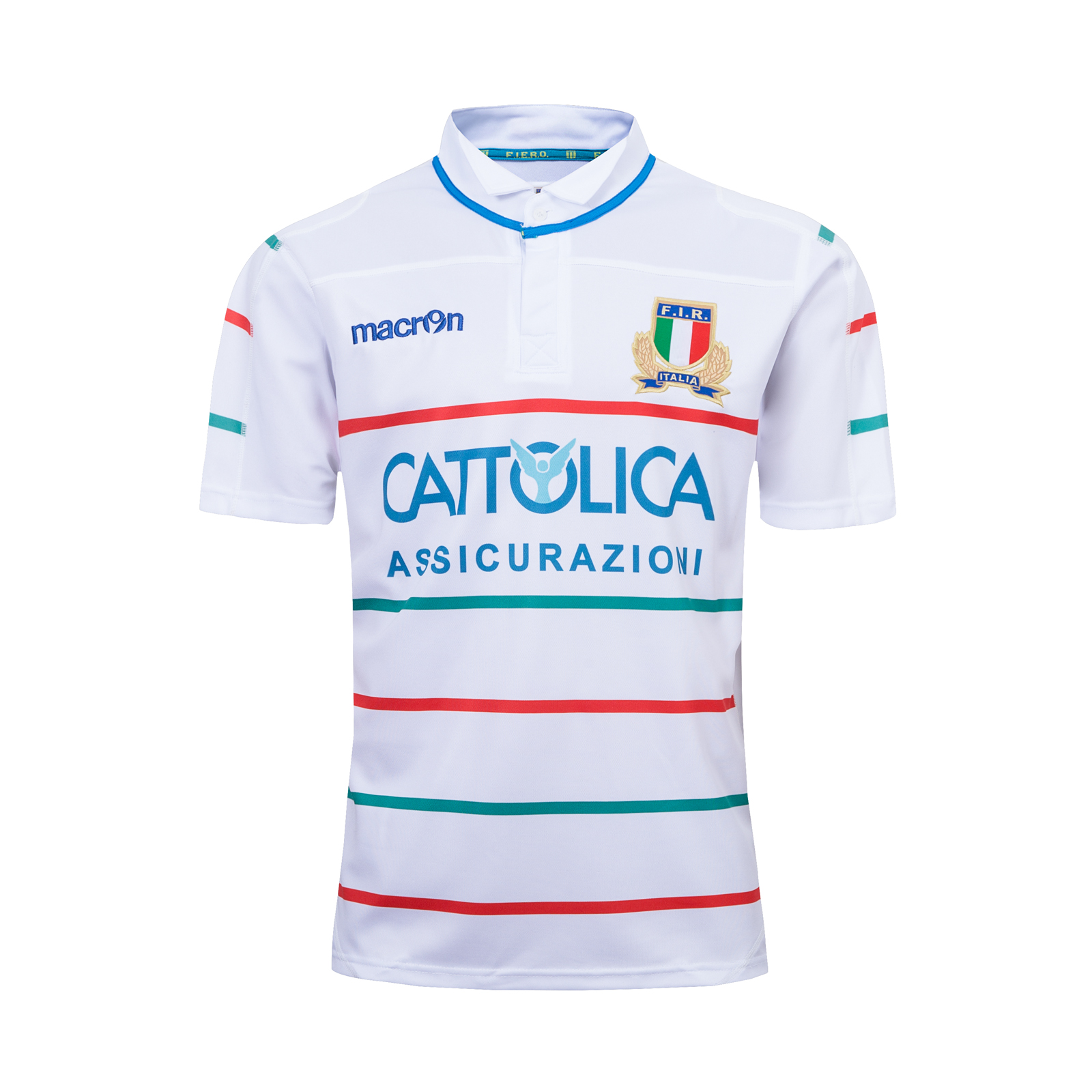 pretty nice 96090 f53cd 2019-2020 Season Italy National Team Away White Color Rugby ...