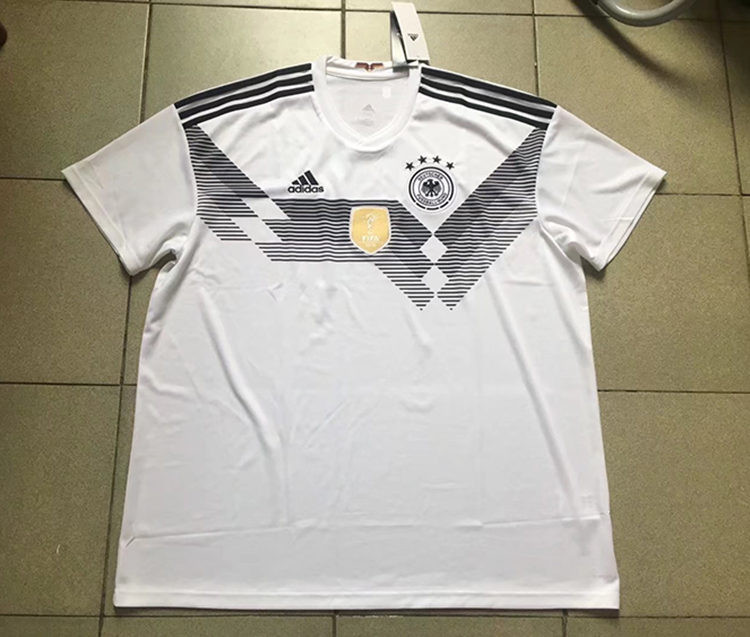 3b9daea480c 2018 World Cup Germany Home White Color Soccer Jersey Top Thailand ...