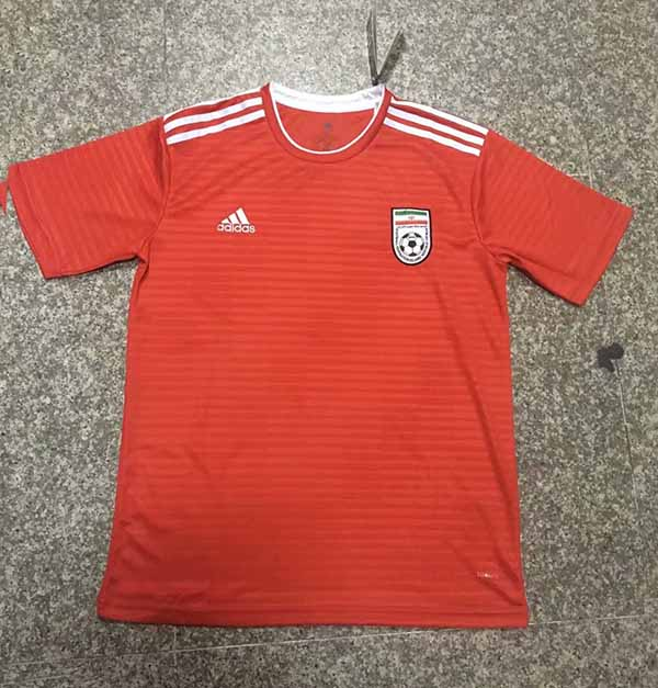 online retailer b19fd e6a2b 2018 World Cup Iran Away Red Color Soccer Jersey Top ...