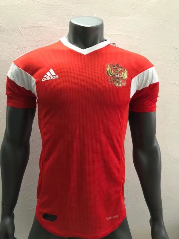quality design 62160 14fd6 2018 World Cup Russia Home Red Color Soccer Jersey Russia ...