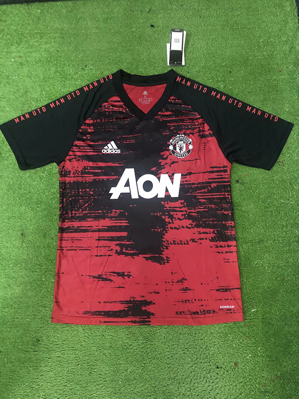 20 21 Season Manchester United Red Black Color Football Training Shirt Man United Casual T Shirt 19 20 Season Manchester United Red Black Color Football Training Shirt 14 00 Footballinbox Top Quality Football Jersey And Kids