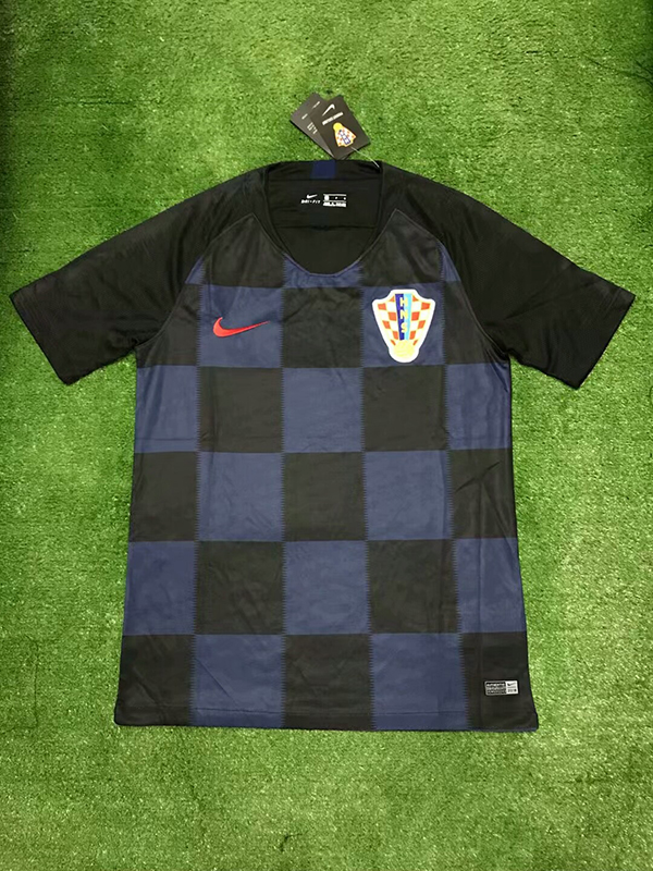 759fd1aee 2018 World Cup Croatia Away Blue Color Soccer Jersey Top Thailand ...