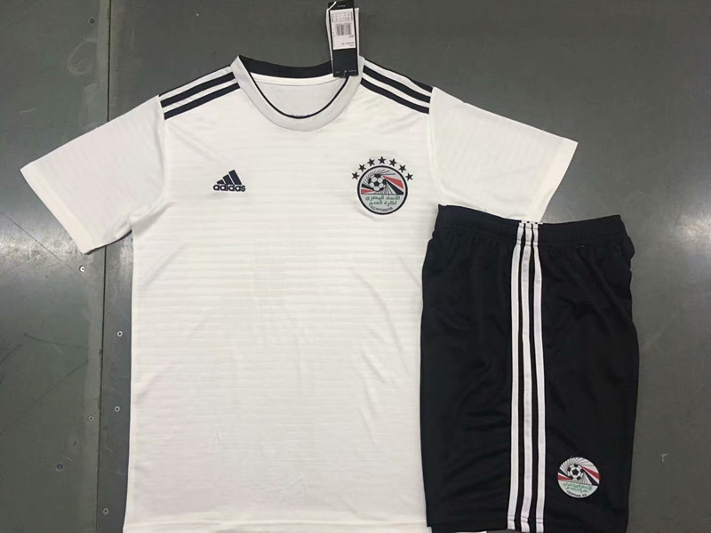 2018 World Cup Egypt Away White Color Youth Kids Football Uniforms ... 64d1a1a2b