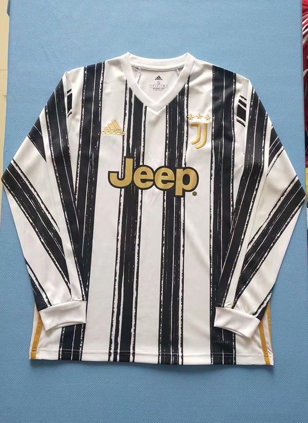 20 21 Season Juventus Home Black White Color Long Soccer Jersey Top Thailand Quality Juventus Football Shirts 19 20 Season Juventus Home Black White Color Long Soccer Jersey 15 00 Footballinbox Top Quality Football Jersey