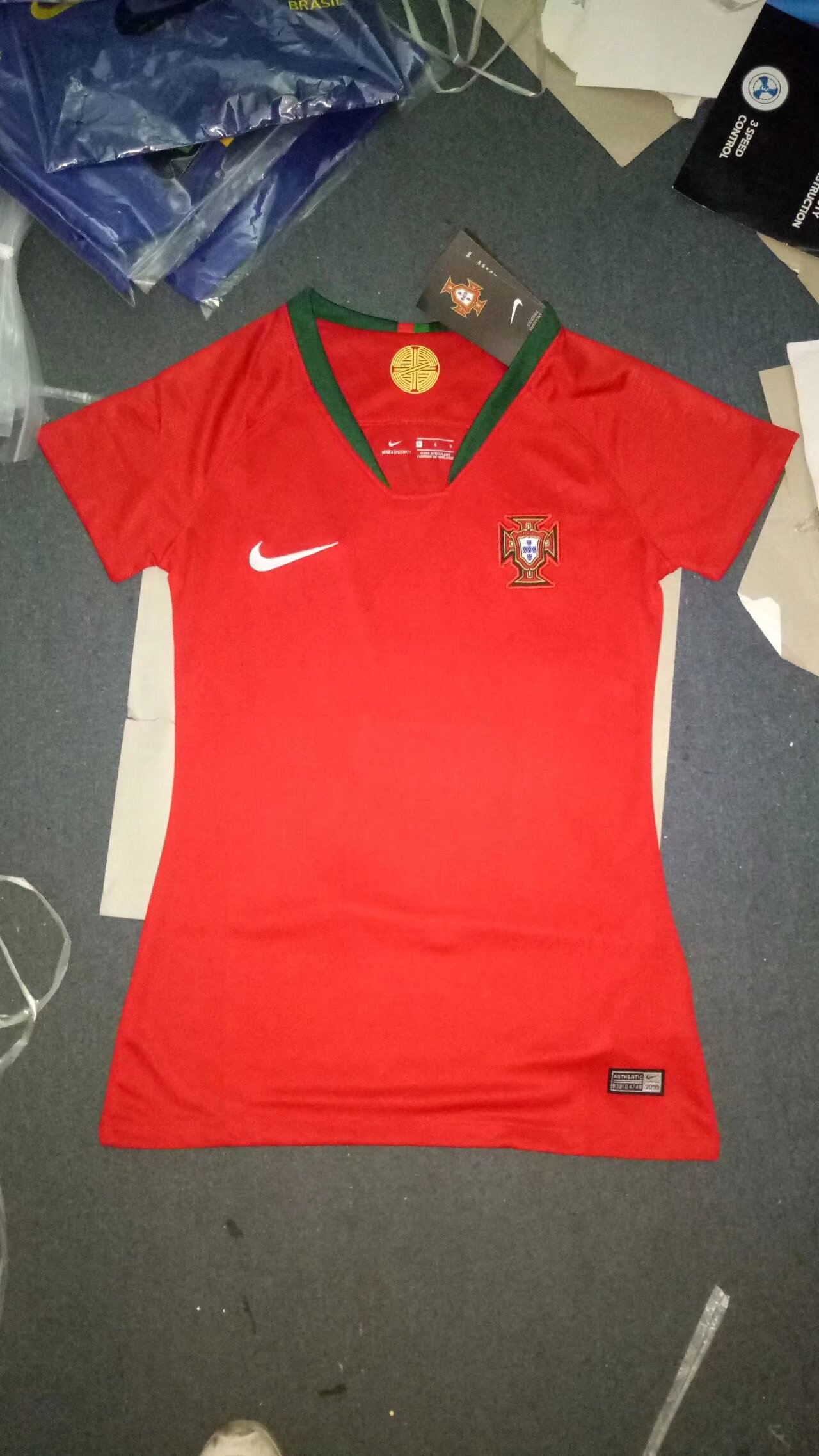 2018 World Cup Portugal Home Red Color Women Soccer Jersey Portugal ... 11fb7881e