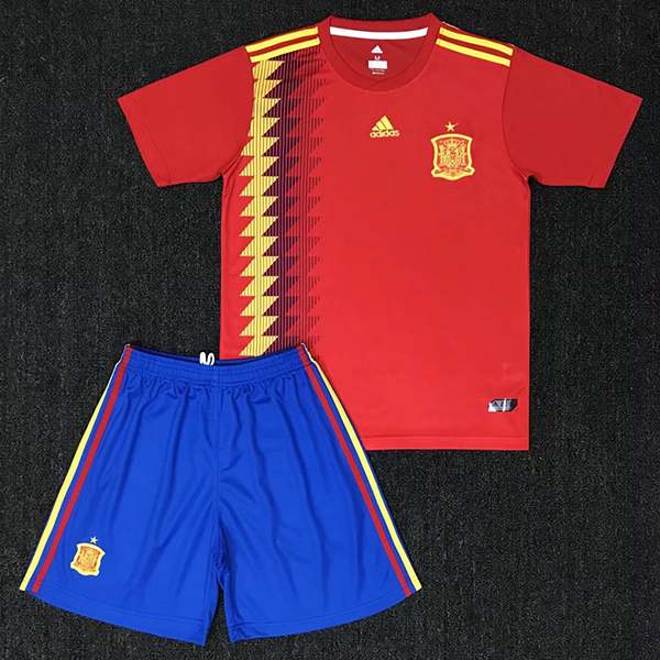 42b7590be 2018 World Cup Spain Home Red Color Football Sets Espana Soccer Kits ...