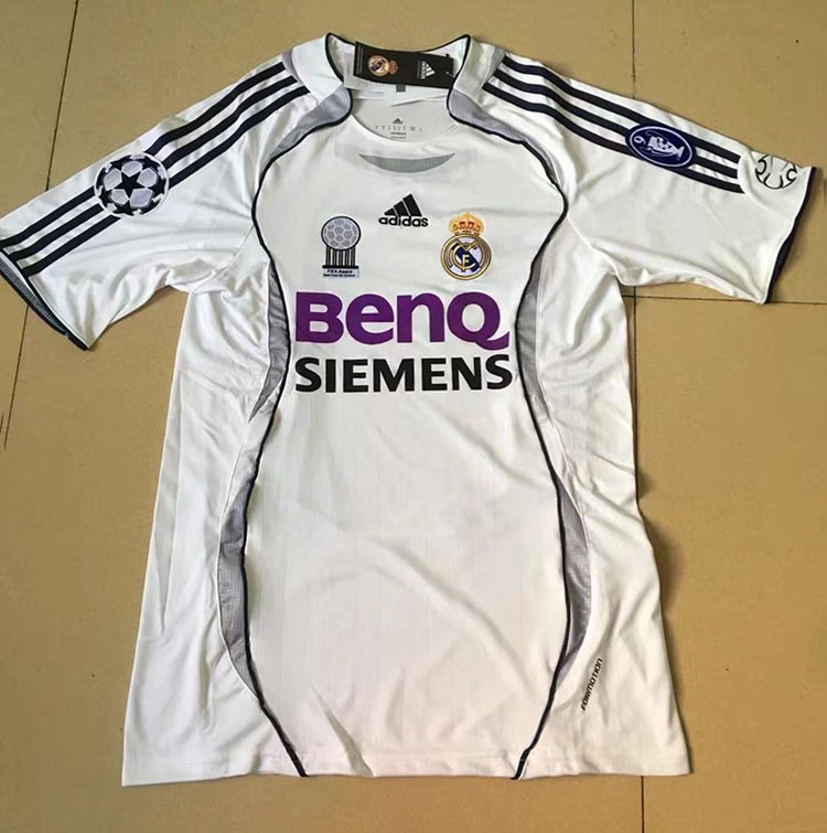 outlet store 039b9 ad94b 2006-2007 Season Real Madrid Home White Color Soccer Jersey ...