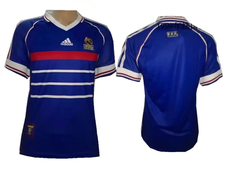 separation shoes a0e48 68356 1998 World Cup France Home Blue Color Soccer Jersey Top ...