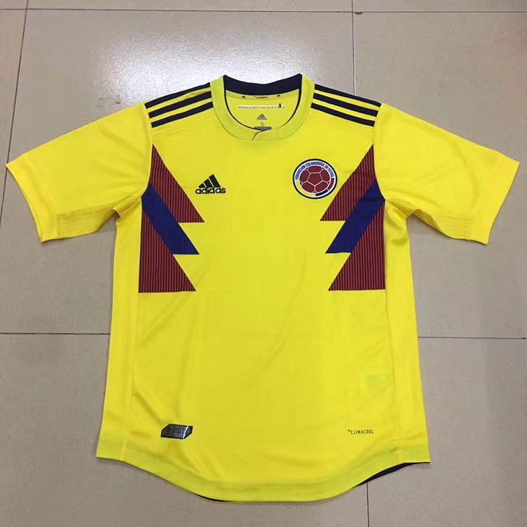1791f7e89 2018 World Cup Colombia Home Yellow Color Soccer Jersey Top Thailand ...