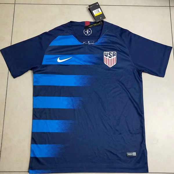 c9b5c5654 2018 World Cup USA Away Blue Color Soccer Jersey Top Thailand ...
