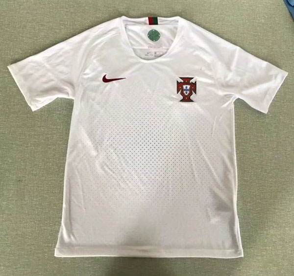 e9b324aee 2018 World Cup Portugal Away White Color Soccer Jersey Top Thailand ...