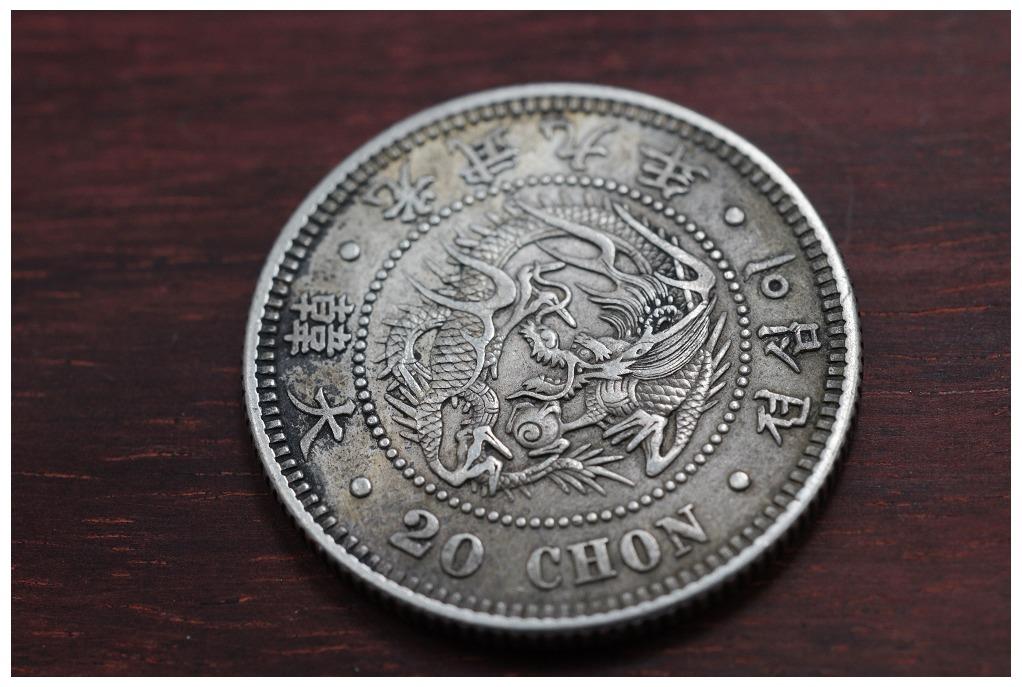 朝鲜 大韩光武9年二十钱 1905年