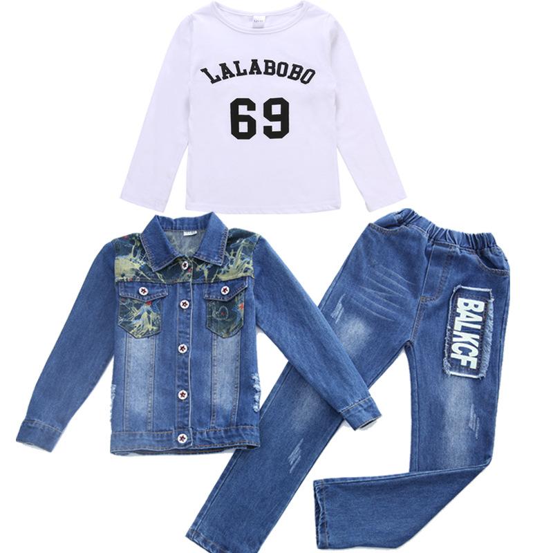 8c1103d15 2019 Baby Girl Clothes 2018 Autumn Boy Or Girls Denim Camouflage ...