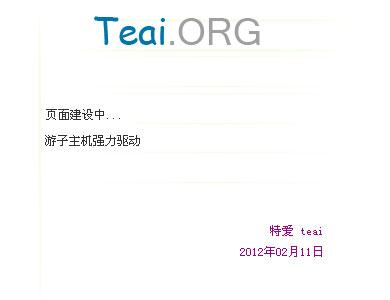 开始使用新域名 teai.org