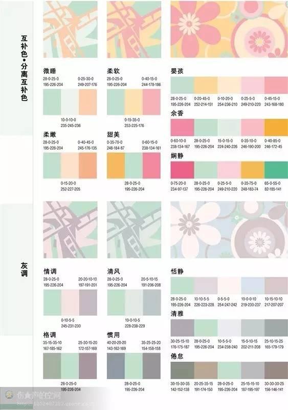 ppt配色方案图谱_PPT配色方案 | 牛国柱