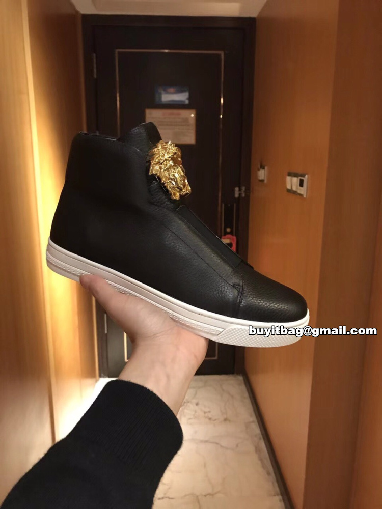 b94dba13 Versace mens slip on high top palazzo sneakers
