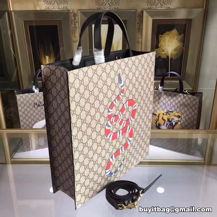 34946a1ac29 Best high quality cheap discount Gucci snake print soft GG Supreme ...