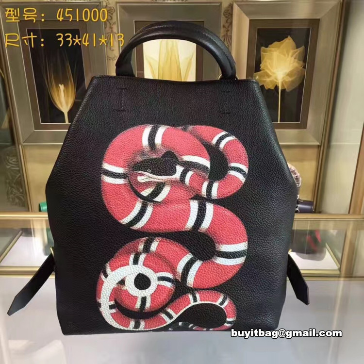 ce2cf8157cd8 Best quality discount cheap Gucci mens Snake print leather backpack ...