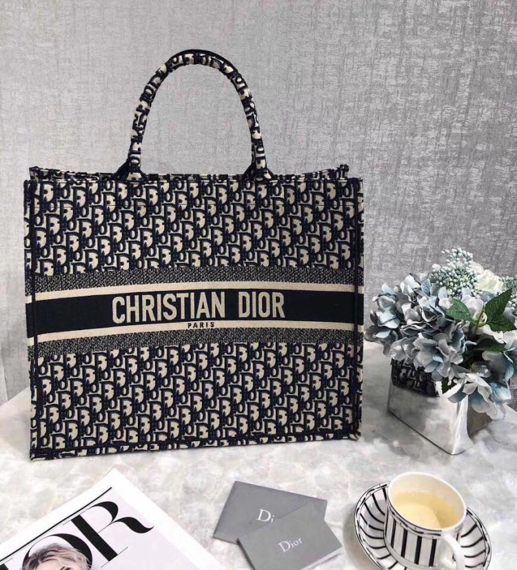 5d285202e Best quality discount cheap Dior Women dior book tote bag in embroidered  dior oblique canvas for
