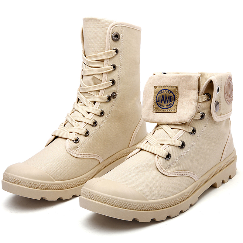 Men Shoes Canvas Martin Boots Retro School Fashion
