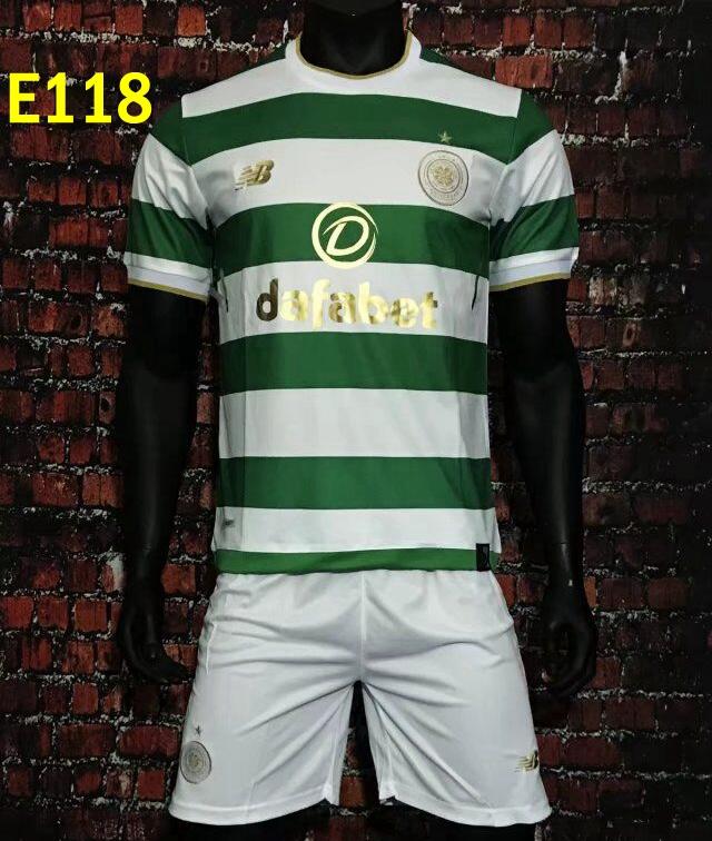 Celtic home away soccer football jersey kits suit shirt