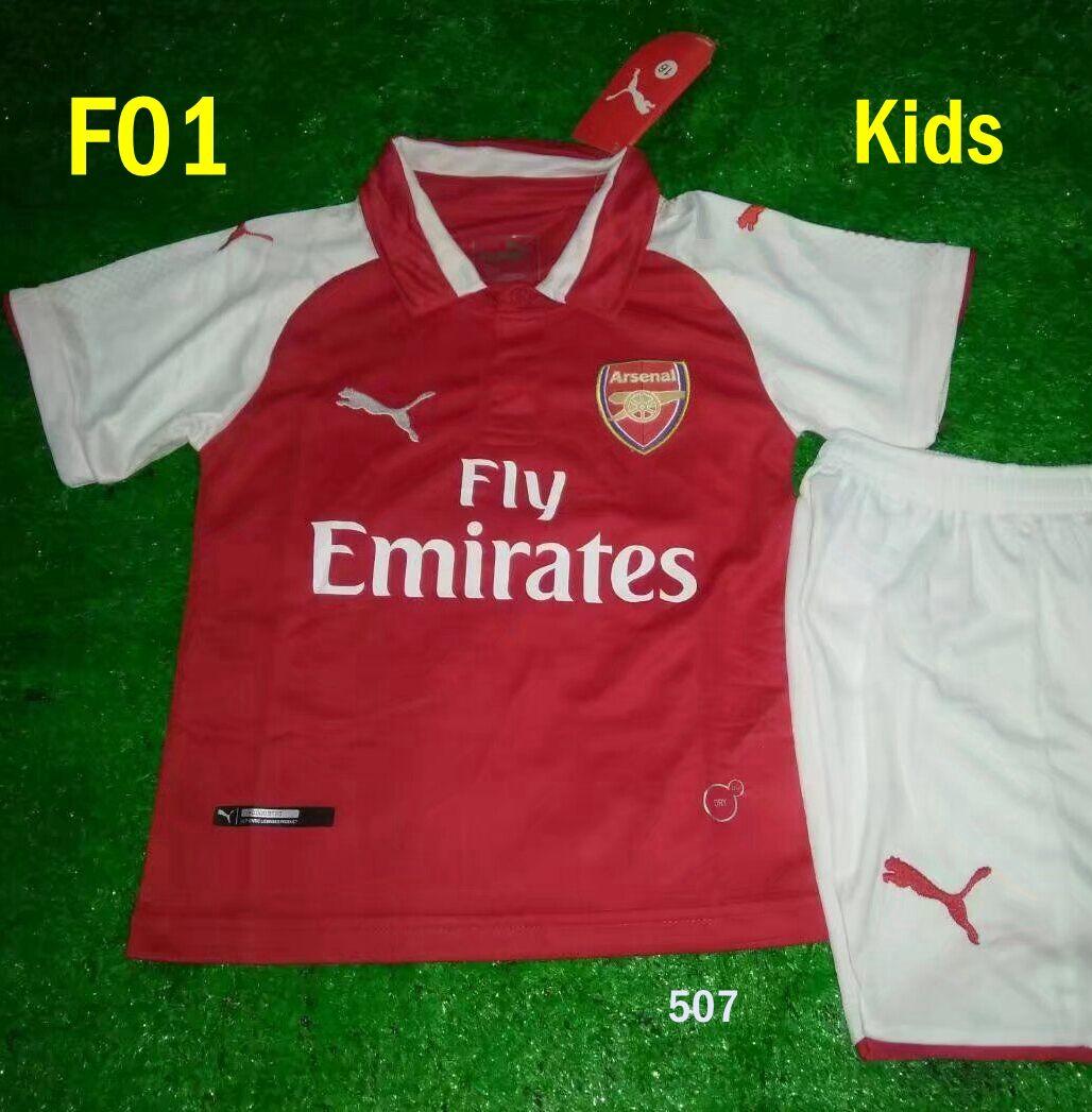 2018 Arsenal Kids home away soccer jersey maillot kits