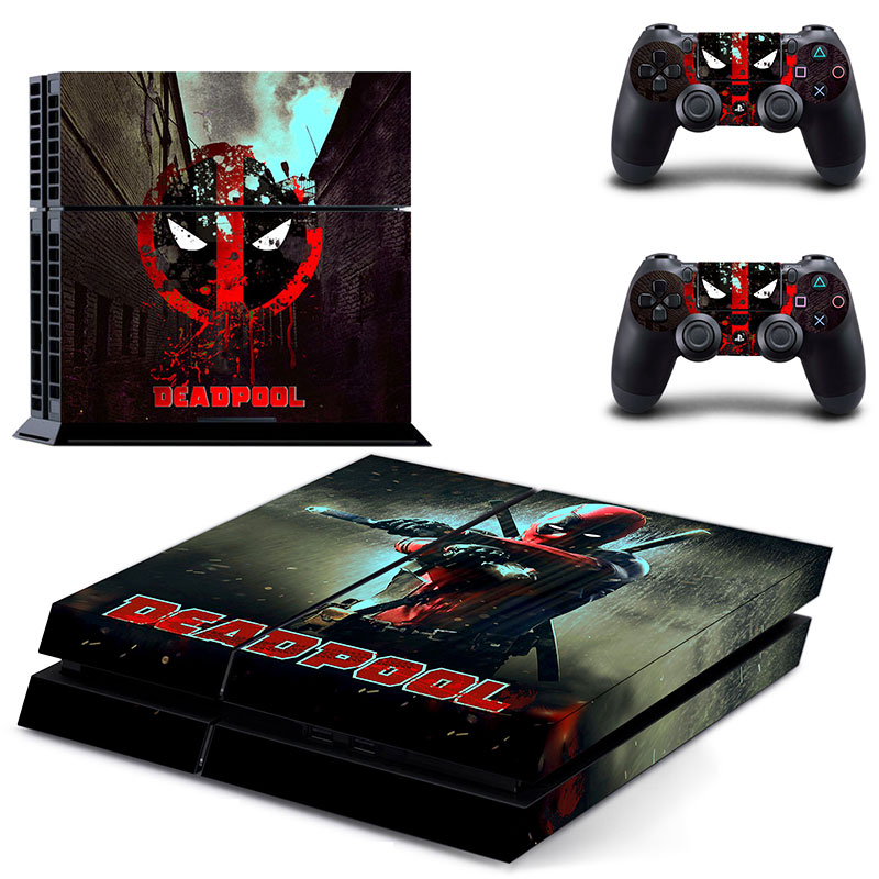 Popular Game Deadpool Skin Sticker For PS4 System