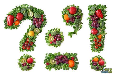 水果字体 蔬菜字体 创意字体 PS字体 字体设计 JPG44