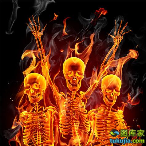 骷髅 skull 头骨 恐怖 危险 骷髅图案 骨骼 危险标志 JPG948