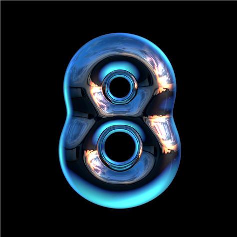 荧光字体 玻璃字体 蓝光字体 玻璃柱字体 字体设计 英文字体 字母设计 数字字体 JPG1151