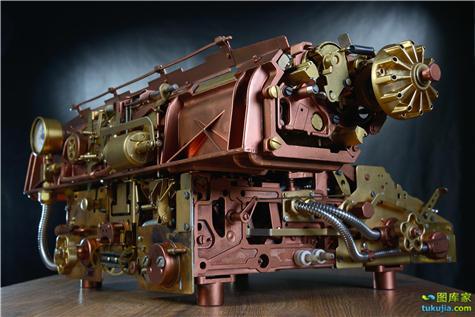 蒸汽时代 朋克时代 蒸汽朋克 工业时代 工业革命 朋克机械 科幻 美女 女朋克 JPG1178