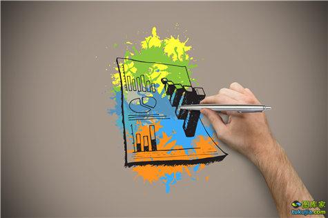 手绘 插画 手绘插画 商务插画 商务素材 经济素材 财经素材 杂志插画 商务插画 JPG1214