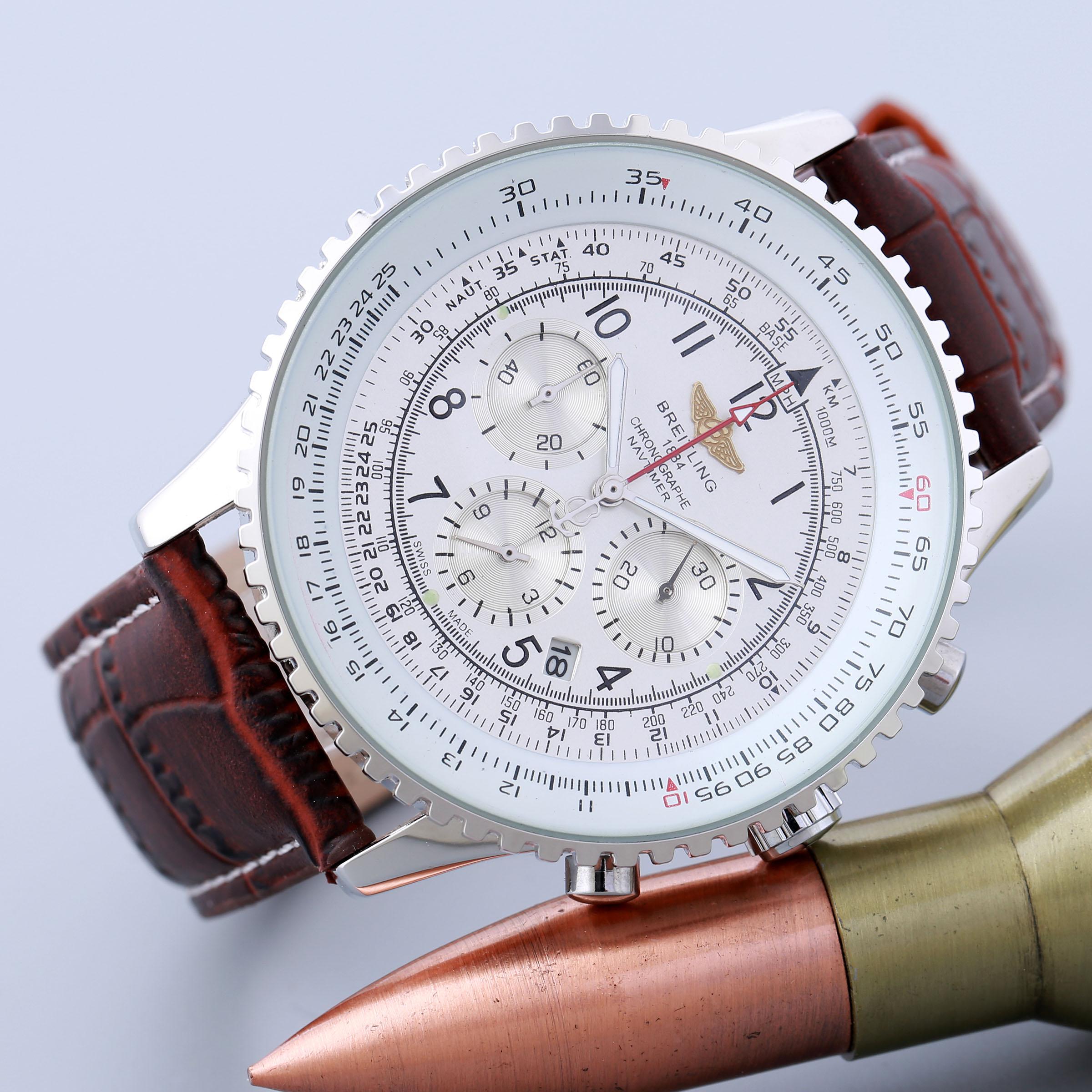 High quality quartz Breitling movement men watch #13