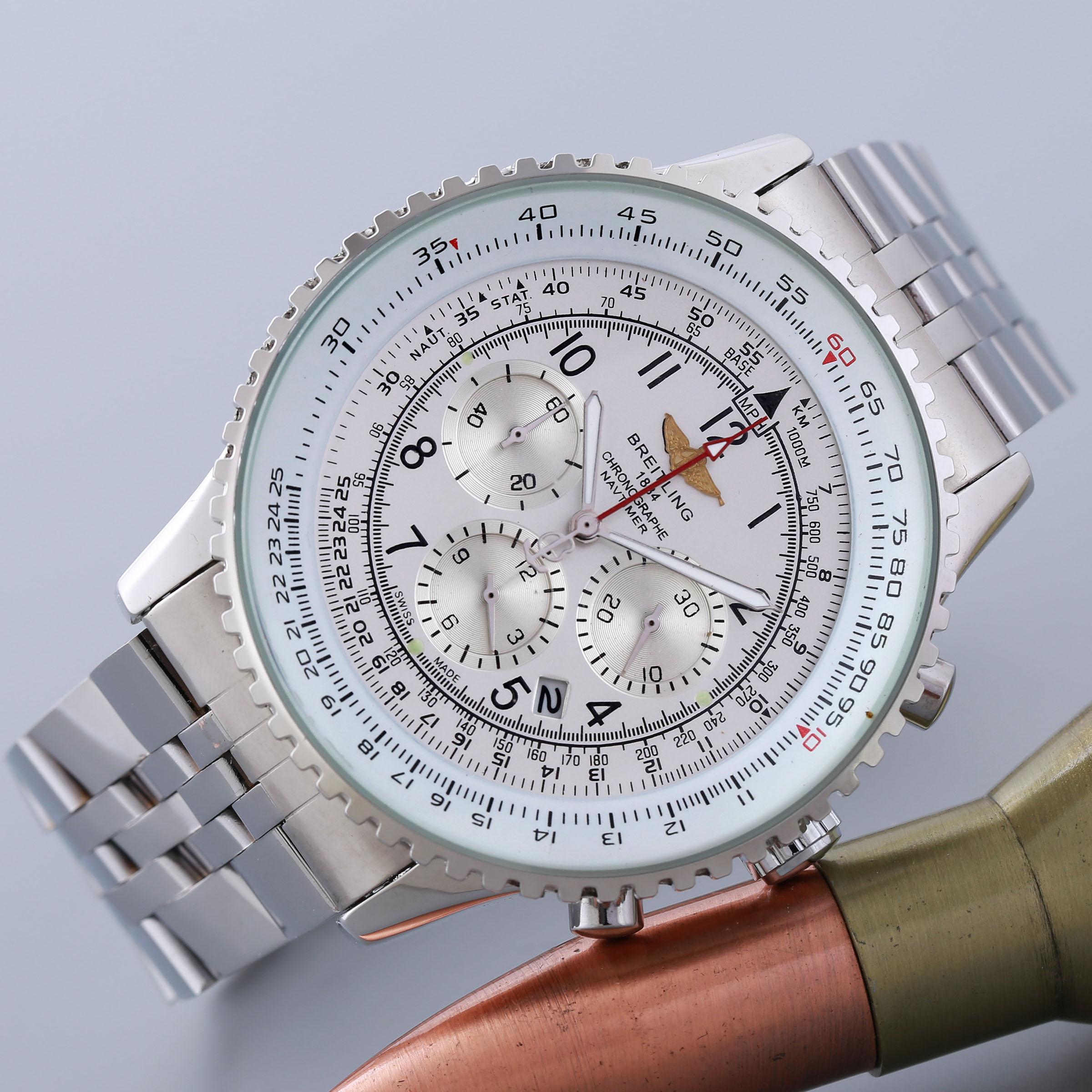 High quality quartz Breitling movement men watch #2