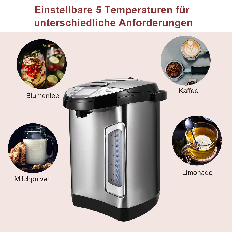 Heißwasserspender Thermopot 3-Wege Wasserentnahme 3.5L Edelstahl LCD Display