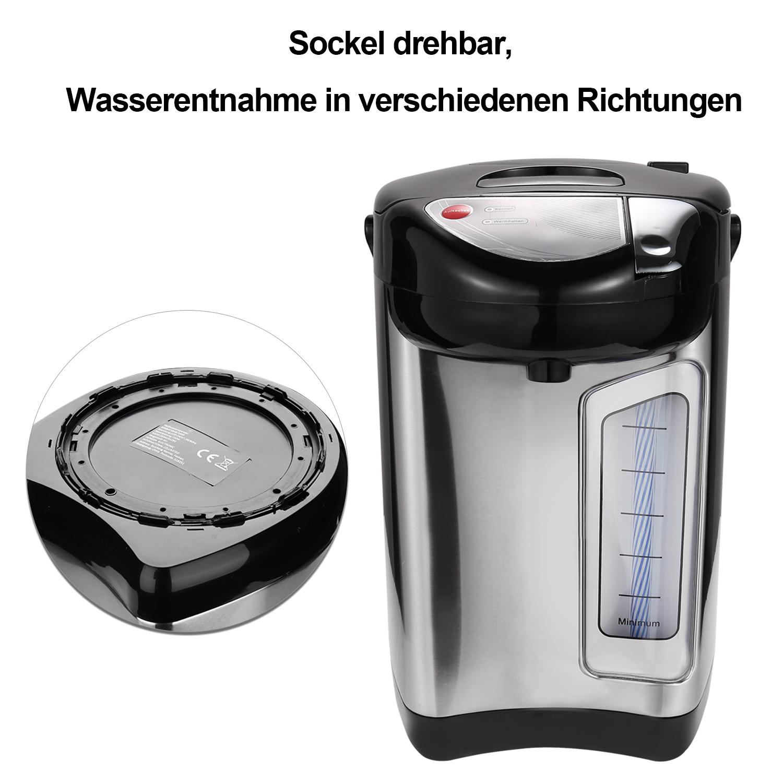 3.5L Heißwasserbereiter Thermopot Heiß Wasser Spender Thermoskanne Edelstahl