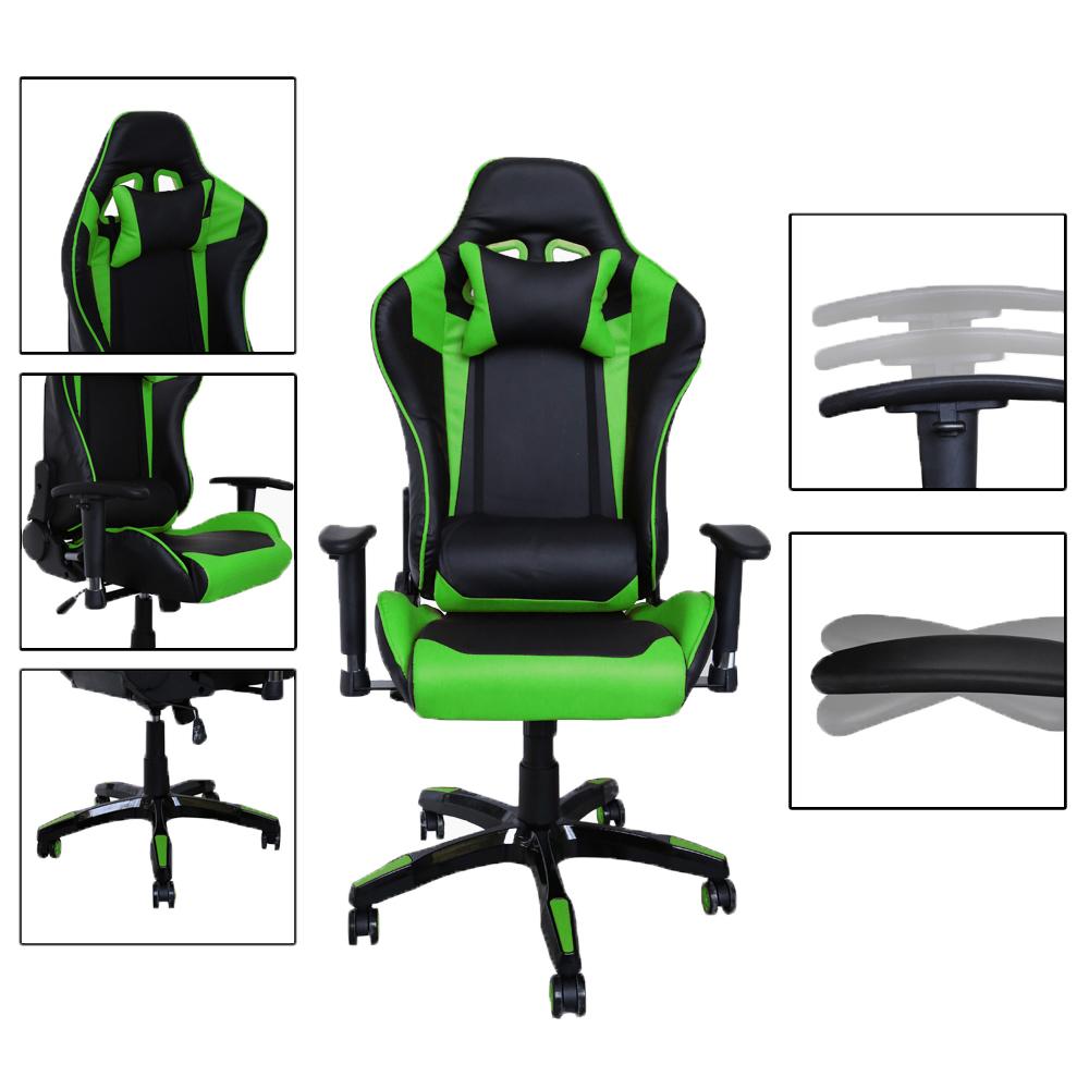 Racing stuhl drehstuhl b rodrehstuhl computerstuhl gaming stuhl wippmechanik ebay - Gaming stuhl ebay ...