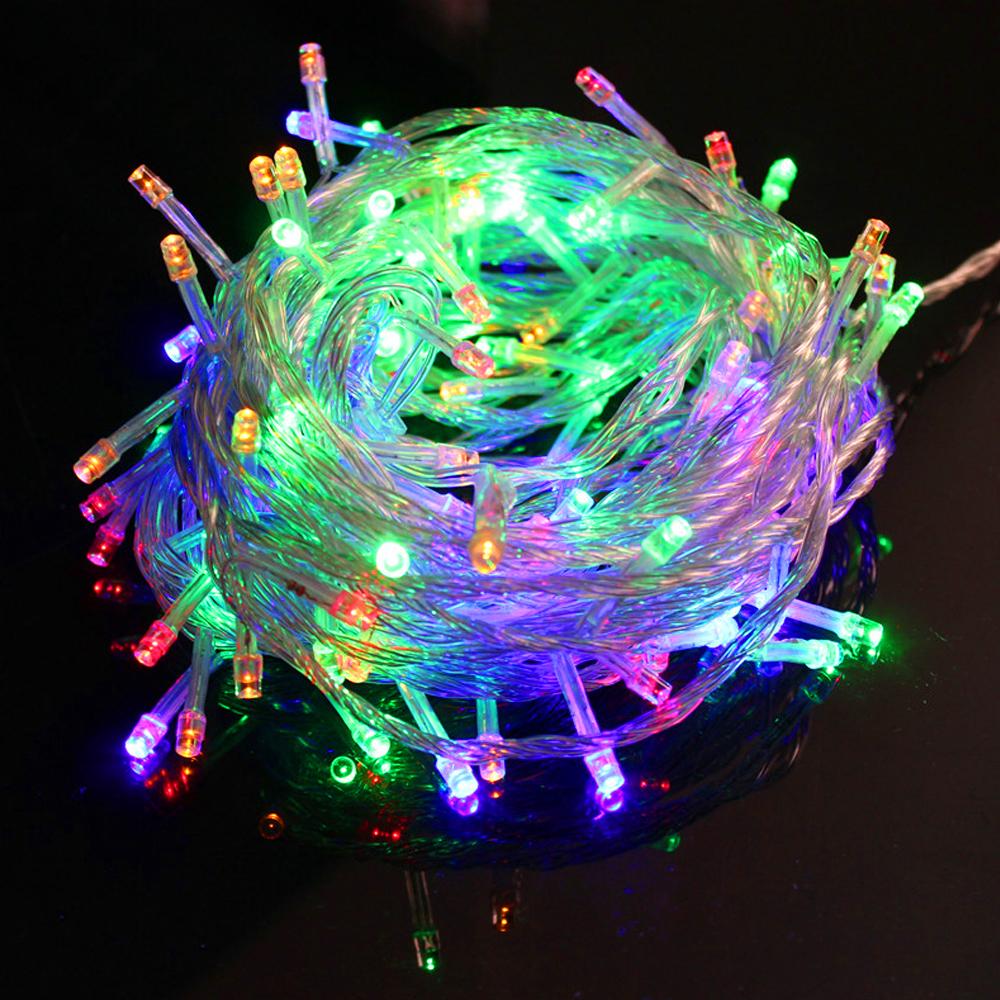200 400 600 led eisregen lichterkette weihnachtsbeleuchtung deko xmas party ebay. Black Bedroom Furniture Sets. Home Design Ideas