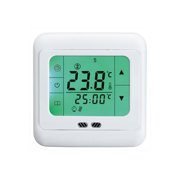 digital raumthermostat digitaler bodenf hler thermostat fu bodenheizung gr n ebay. Black Bedroom Furniture Sets. Home Design Ideas
