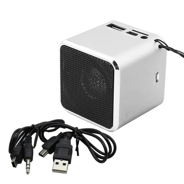 mini lautsprecher fm radio usb microsd soundstation musik box mp3 player silber ebay. Black Bedroom Furniture Sets. Home Design Ideas