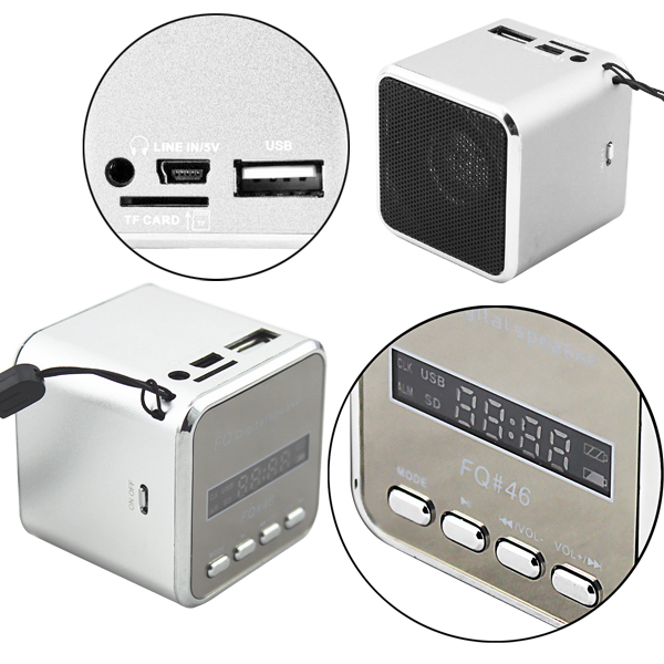 mini lautsprecher fm radio usb microsd soundstation musik. Black Bedroom Furniture Sets. Home Design Ideas