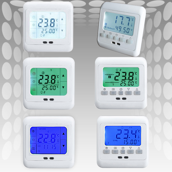 digital raumthermostat digitaler bodenf hler thermostat. Black Bedroom Furniture Sets. Home Design Ideas
